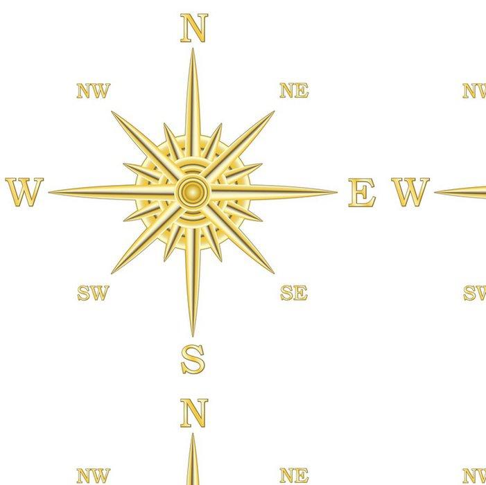 Tapeta Pixerstick Metalíza kompasu Větrná růžice - Na cestě