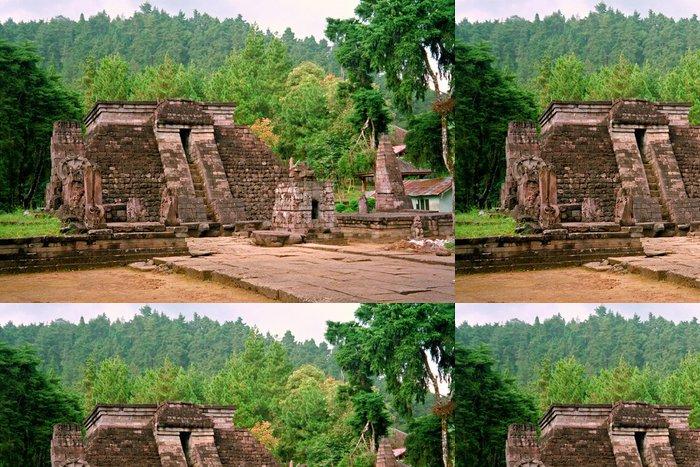 Tapeta Pixerstick Mexické stylu hinduistický chrám v Javě, Candi Sukuh, Indonésie - Asie