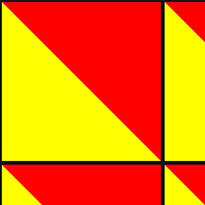 Tapeta Pixerstick Mezinárodní námořní vlajka signál - Značky a symboly