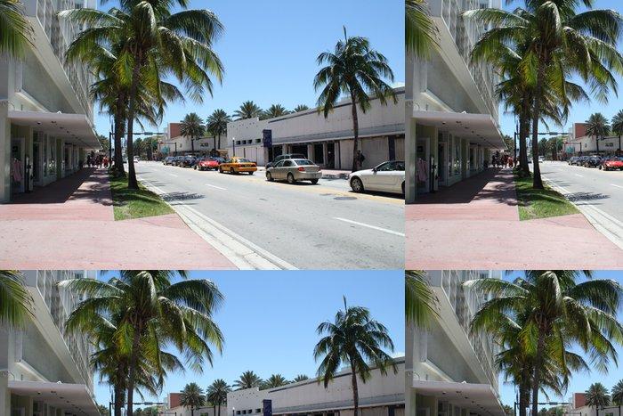 Tapeta Pixerstick Miami Beach na ulici - Prázdniny