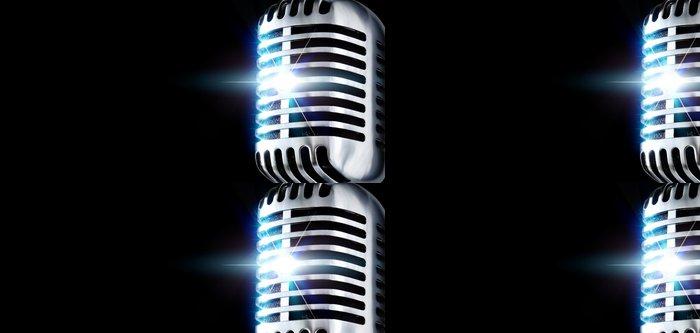 Vinylová Tapeta Mikrofon v centru pozornosti - Zábava