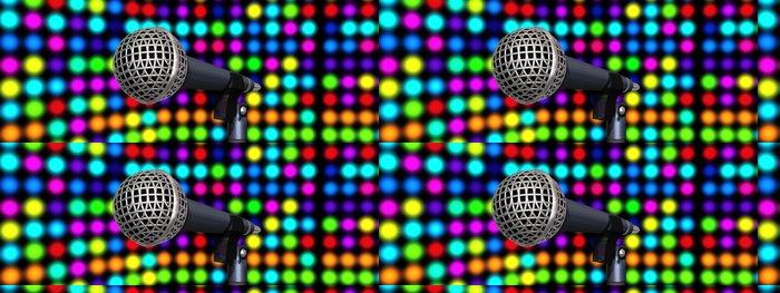Tapeta Pixerstick Mikrofony na pódiu - Značky a symboly