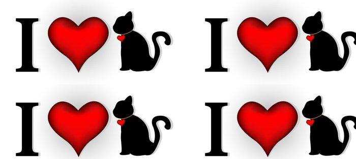 Tapeta Pixerstick Miluju kočku pro vás design - Štěstí
