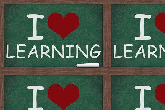 Tapeta Pixerstick Miluju učení - Vzdělávání