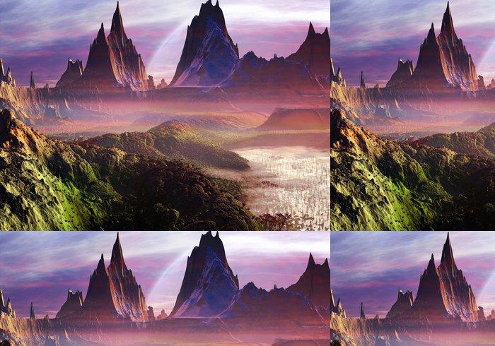 Tapeta Pixerstick Misty Morning přes Paradise Valley - Meziplanetární prostor