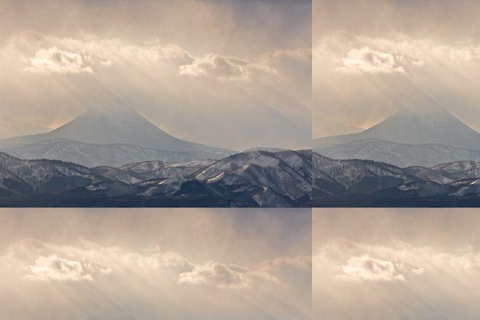 Vinylová Tapeta Misty Mountainside - Hory