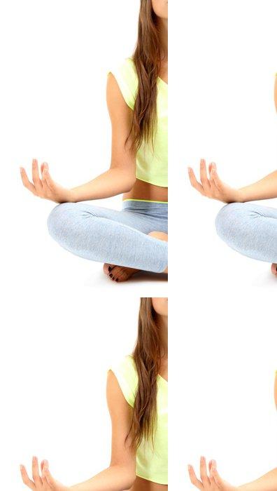 Vinylová Tapeta Mladá krásná dívka fitness jógu cvičení izolovaných - Do školy jógy