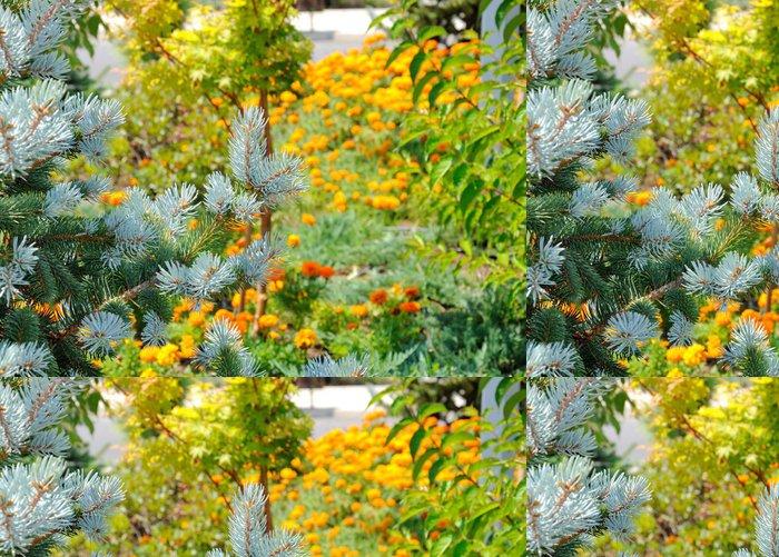 Tapeta Pixerstick Mladí jehly na pozadí květinové - Roční období