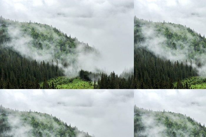 Tapeta Pixerstick Mlha a oblačnosti salašnický údolí krajiny - Hory