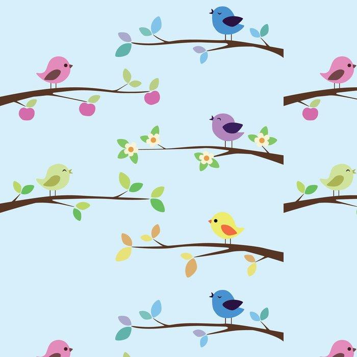 Tapeta Pixerstick Mnoho světlé ptáci na různých větvích - Ptáci