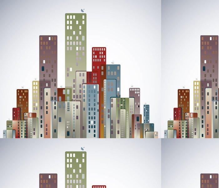 Tapeta Pixerstick Moderní město panorama. - Město