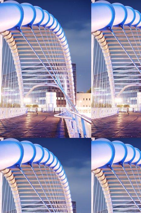 Vinylová Tapeta Moderní most noční scéna - Infrastruktura