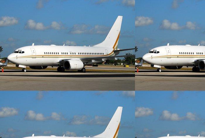 Tapeta Pixerstick Moderní osobní letadlo čeká letu na dráze - Vzduch