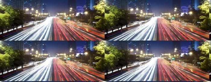 Vinylová Tapeta Moderní panoráma města v Pekingu v noci - Na cestě
