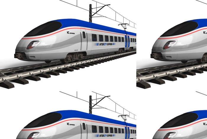 Vinylová Tapeta Moderní vysokorychlostní vlak izolovaných na bílém - Železnice