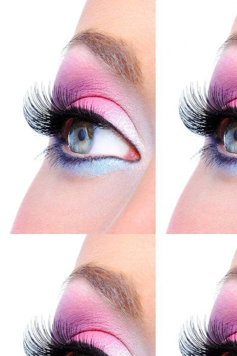 Tapeta Pixerstick Módní make-up ženské oko - Témata