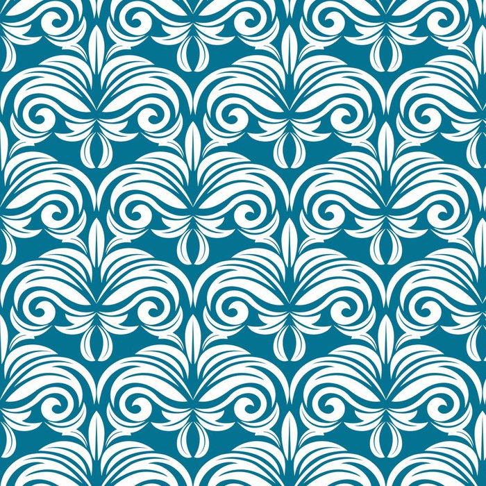 Tapeta Pixerstick Modrá a bílá bezešvé vzor - Pozadí
