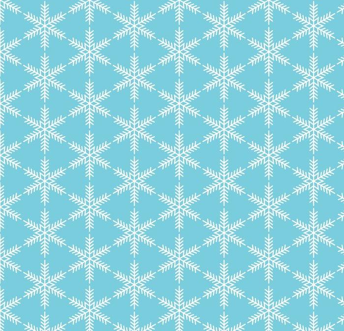 Tapeta Pixerstick Modrá bezešvé sněhová vločka vzor - Témata