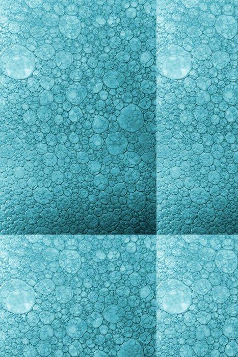 Vinylová Tapeta Modrá byt bubliny makro - Struktury