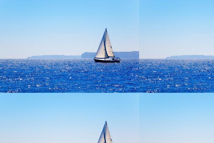 Tapeta Pixerstick Modrá Mediterranean plachetnici plujících - Témata