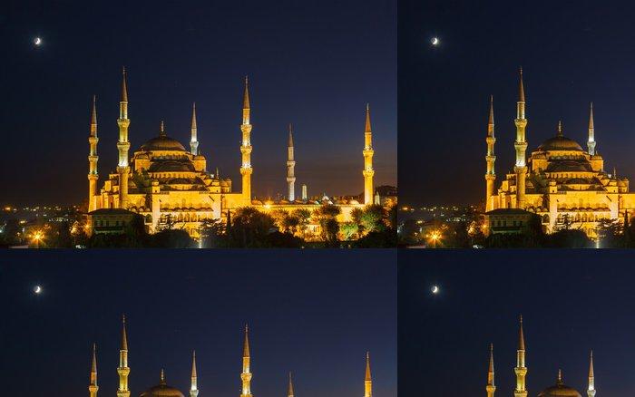Tapeta Pixerstick Modrá mešita v Istanbulu, se západem slunce - Veřejné budovy