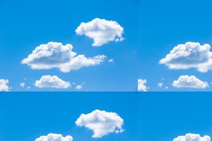 Tapeta Pixerstick Modrá obloha s mraky detailní - Nebe