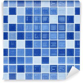 Vinylová Tapeta Modrá skleněná mozaika