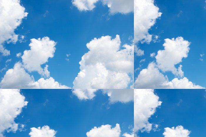 Tapeta Pixerstick Modré pozadí oblohy s bílými mraky - Témata