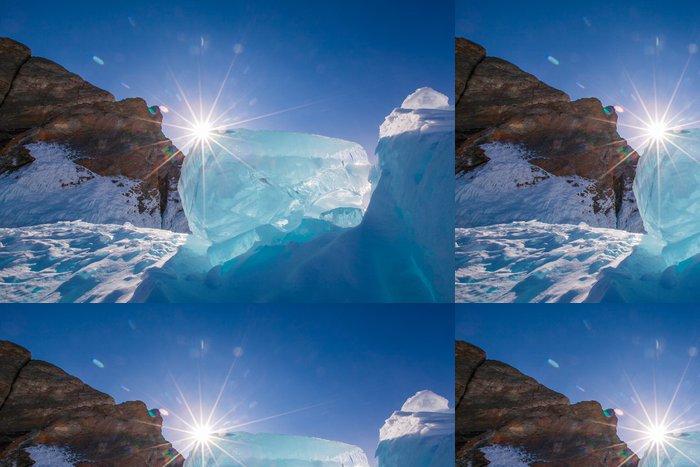 Tapeta Pixerstick Modři, čirý led - Asie