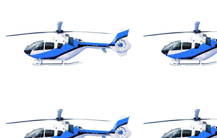Tapeta Pixerstick Modrý vrtulník ojedinělých bílým - Nálepka na stěny