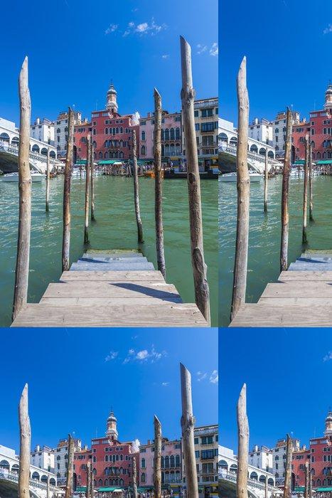 Tapeta Pixerstick Molo pro gondol v Benátkách. Itálie. - Evropská města