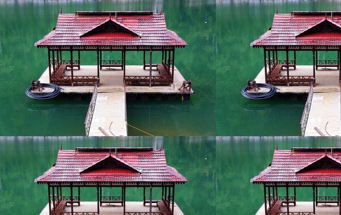 Tapeta Pixerstick Molo u jezera Kenyir Tasik Kenyir, Terengganu Malajsie - Voda