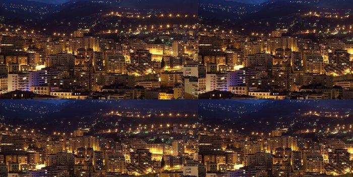 Tapeta Pixerstick Monako v noci. - Domov a zahrada