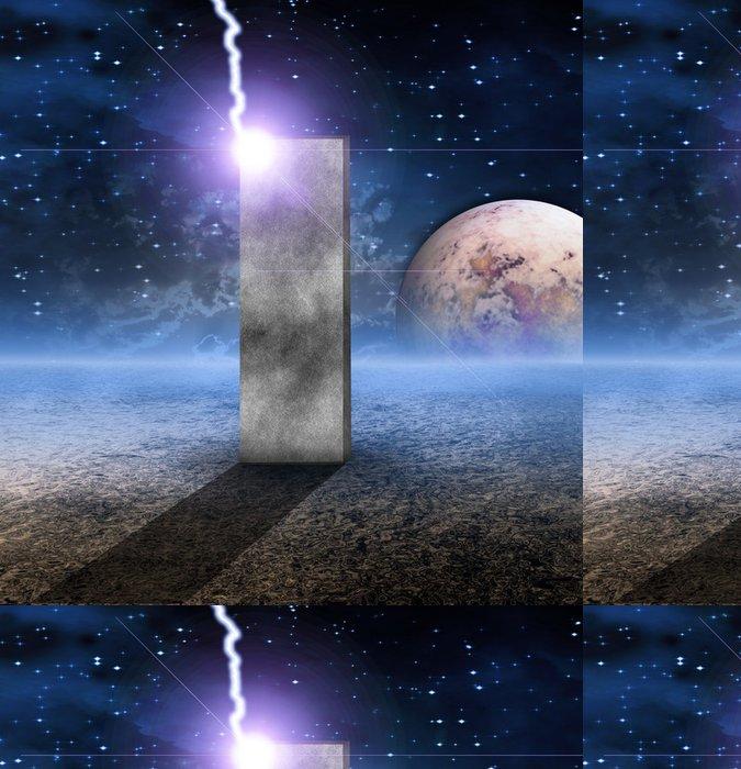Tapeta Pixerstick Monolith na neživých Planet - Zábava