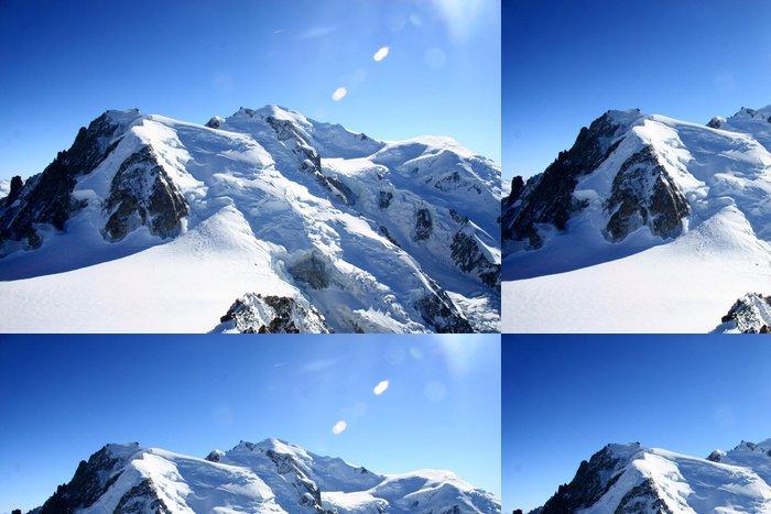 Tapeta Pixerstick Mont Blanc - Zimní sporty