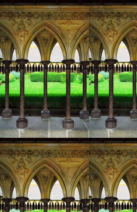 Tapeta Pixerstick Mont Saint Michel klášterní zahrady - Témata
