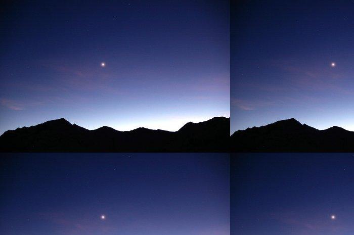 Tapeta Pixerstick Montagnes la nuit, Etoile du Berger. - Hory