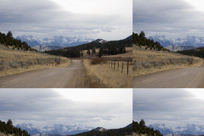 Tapeta Pixerstick Montana country road - Venkov
