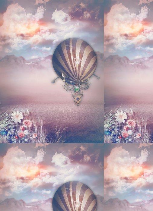 Tapeta Pixerstick Montgolfier v pustině - Pouště