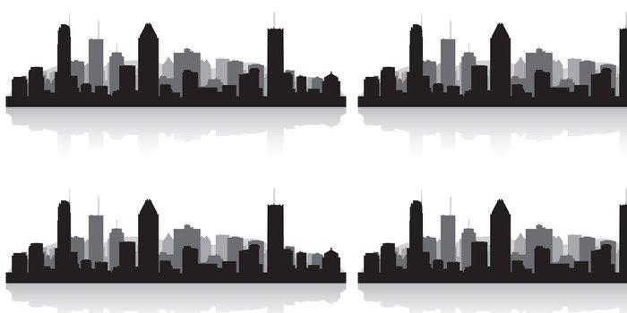 Tapeta Pixerstick Montreal Kanada městské panorama vektor silueta - Amerika
