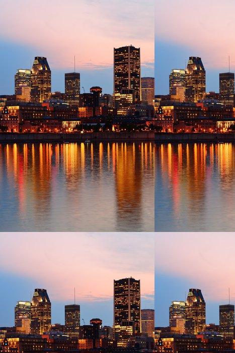 Tapeta Pixerstick Montreal přes řeku při západu slunce - Jiné