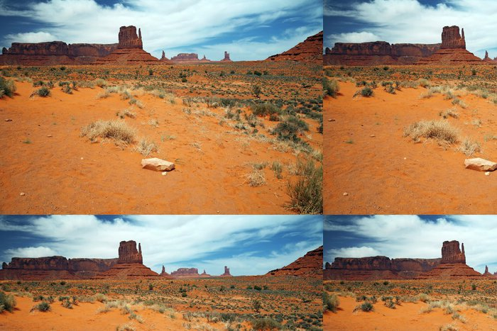 Vinylová Tapeta Monument Valley, pouštní kaňon v Utahu, USA - Příroda a divočina