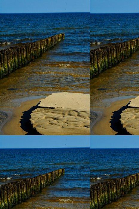 Tapeta Pixerstick Mořská modř letní krajiny z Baltského moře v Polsku - Voda