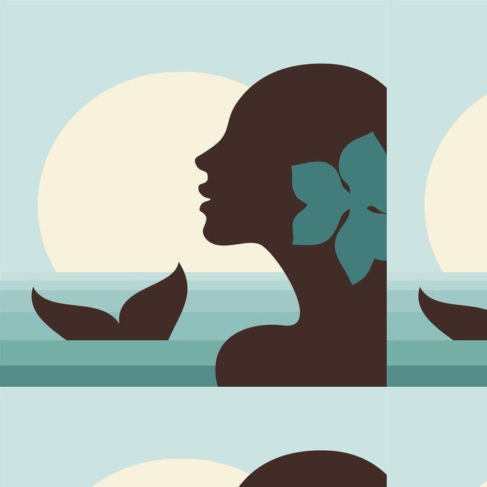 Tapeta Pixerstick Mořská panna - Imaginární zvířata