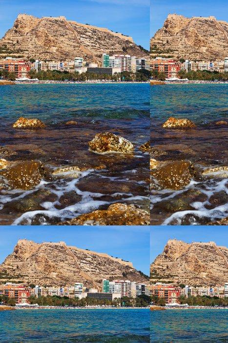 Tapeta Pixerstick Mořské pobřeží ve španělském Alicante - Město