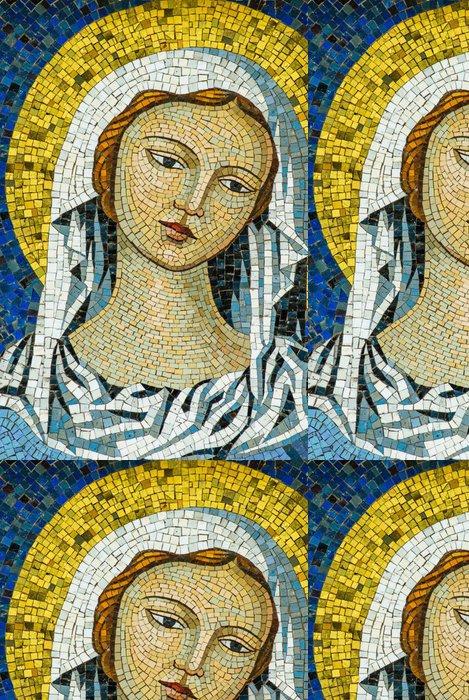 Tapeta Pixerstick Mosaico Madonna Vergine Maria, Sfondo con Trama - Surové materiály