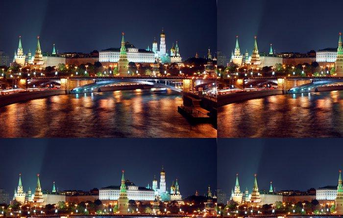 Tapeta Pixerstick Moskva Cremlin noční pohled panorama - Moskva