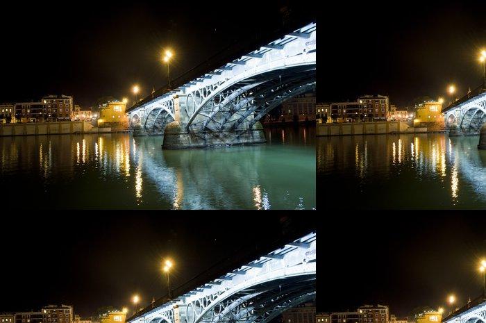 Tapeta Pixerstick Most a řeka v Seville (Španělsko) - Evropa