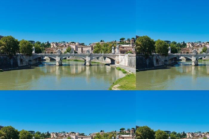 Tapeta Pixerstick Most Il Tevere Ponte Vittorio Emanuele II v Řím, Itálie - Témata