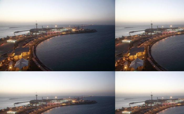 Tapeta Pixerstick Most krále Fahda přes záliv Bahrajnu. střední východ - Střední Východ
